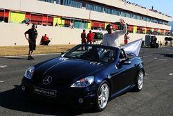 Parade des pilotes, avec Gary Paffett, Persson Motorsport AMG Mercedes