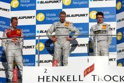 Podium: Mika Hakkinen, Team HWA AMG Mercedes, Mattias Ekström, Audi Sport Team Abt Sportsline, Paul