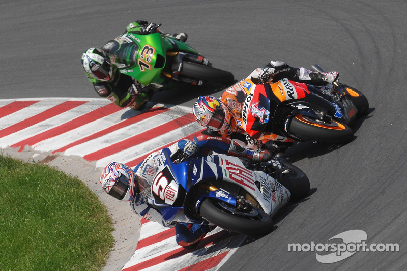 Colin Edwards, Nicky Hayden y Anthony West