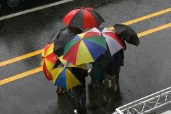 De fortes pluies dans l'après-midi
