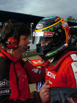 Mark Skaife congratulated after taking the chequered flag