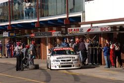 Fabian Coulthard after tyre change