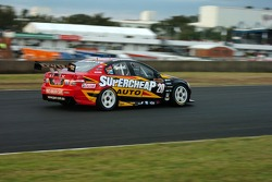 Paul Dumbrell on the back straight