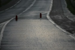 De fortes pluies au virage de Mulsanne