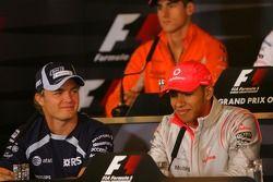 Пресс-конференция FIA: Нико Росберг, WilliamsF1 Team и Льюис Хэмилтон, McLaren Mercedes
