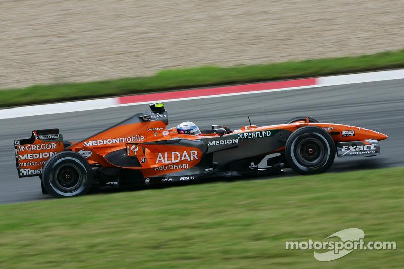 2007 год. Маркус Винкельхок. 1 гонка в Spyker