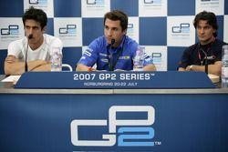 Timo Glock, Lucas di Grassi et Giorgio Pantano en conférence de presse