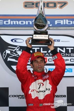 Podium: race winner Raphael Matos