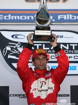 Podium: race winner Raphael Matos