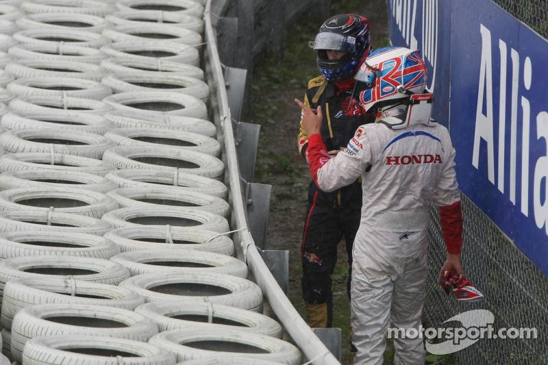 Jenson Button, Honda Racing F1 Team y Scott Speed, Scuderia Toro Rosso