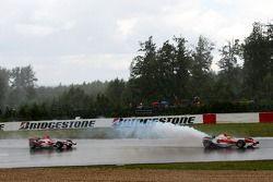 Ralf Schumacher, Toyota Racing, TF107 y Takuma Sato, Super Aguri F1, SA07