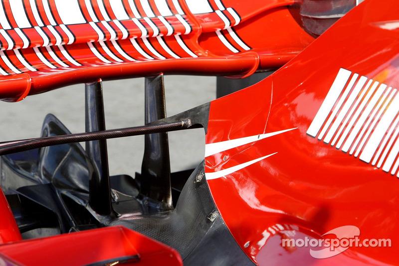 Detalle técnico del coche de Scuderia Ferrari, F2007