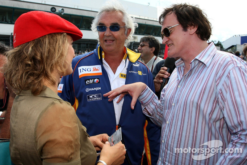 "Quentin Tarantino, American Film Director, Zoe Bell Actress in ""Death Proof"" with Flavio Briatore, R"