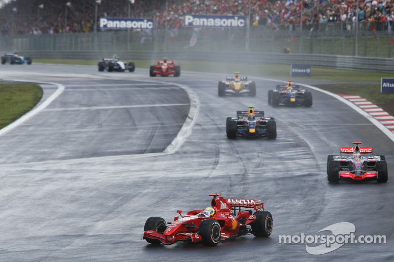 Massa stayed in front of Alonso for a long time.