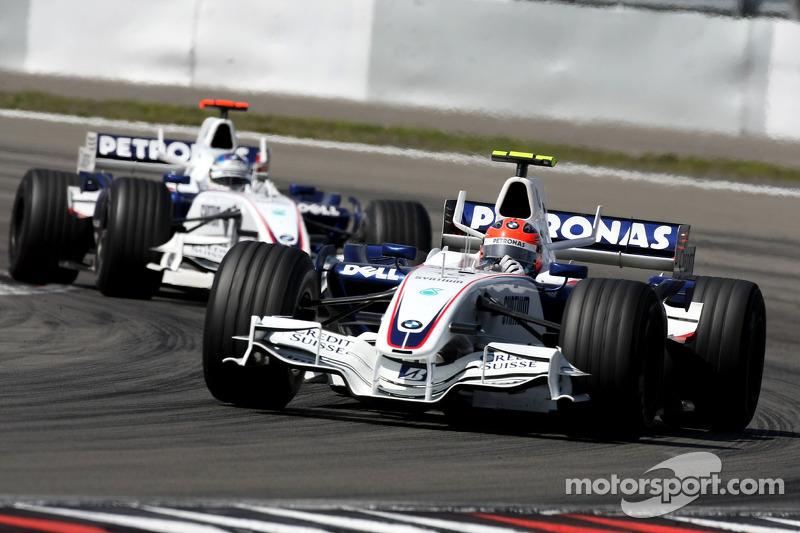 Robert Kubica, BMW Sauber F1 Team, F3.07 ve Nick Heidfeld, BMW Sauber F1 Team, F3.07