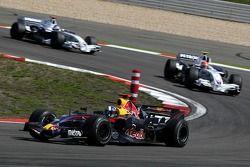 David Coulthard, Red Bull Racing, RB3 y Robert Kubica, BMW Sauber F1 Team, F1.07