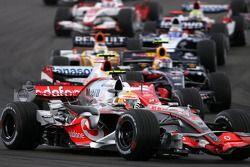 Льюис Хэмилтон, McLaren Mercedes на старте
