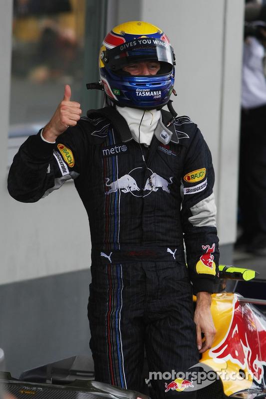 El tercer clasificado Mark Webber, Red Bull Racing