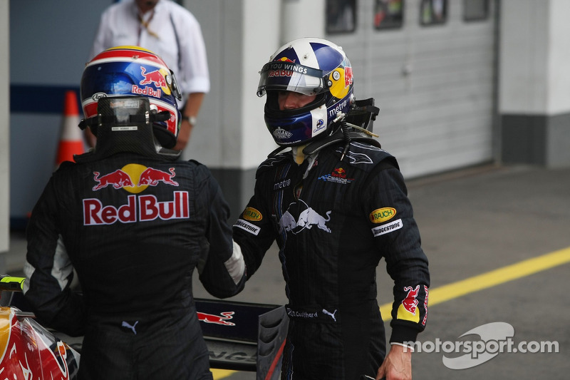 Mark Webber, Red Bull Racing y David Coulthard, Red Bull Racing