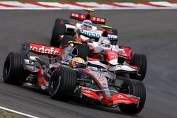 Lewis Hamilton, McLaren; Jarno Trulli, Toyota Racing; Anthony Davidson, Super Aguri F1 Team