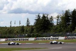 Robert Kubica, BMW Sauber F1 Team y Nick Heidfeld, BMW Sauber F1 Team