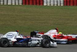 Nick Heidfeld, BMW Sauber F1 Team F1.07; Ralf Schumacher, Toyota TF107
