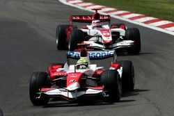 Ralf Schumacher, Toyota Racing, TF107 y Anthony Davidson, Super Aguri F1 Team, SA07