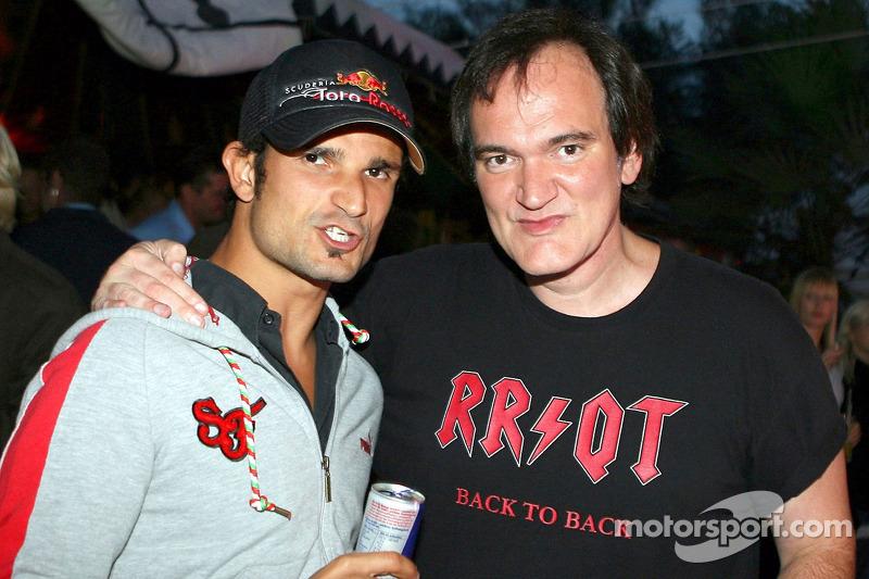 Quentin Tarantino, director de cine y Vitantonio Liuzzi, Scuderia Toro Rosso