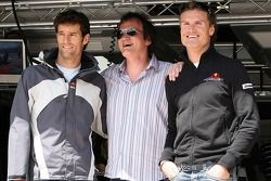 Quentin Tarantino, American Film Director with Mark Webber, Red Bull Racing and David Coulthard, Red