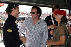 Quentin Tarantino, Zoe Bell y Zoe Bell, la actriz de