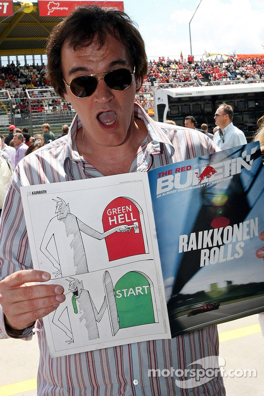 Quentin Tarantino, director de cine, con el Red Bulletin