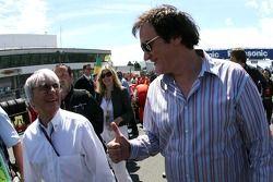 Bernie Ecclestone, y el director de cine Quentin Tarantino