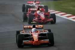 Маркус Винкельхок, Spyker F1 Team, Фелипе Масса, Scuderia Ferrari, Кими Райкконен, Scuderia Ferrari