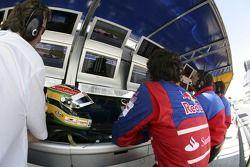 Bruno Senna avec Christian Horner, directeur de l'équipe Arden International