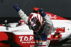 Javier Villa celebrates victory