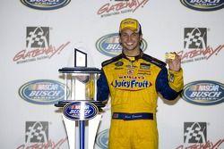 Victory lane: race winner Reed Sorenson celebrates