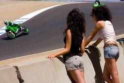 MotoGP Girls watch trackside