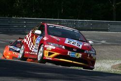 #225 Team DMV Honda Civic Type-R: Mark Giesbrecht, Hans Keutmann, Dino Drössiger, Spencer Trenery