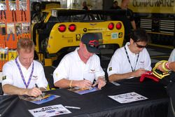 Jan Magnussen, Johnny O'Connell, and Ron Fellows