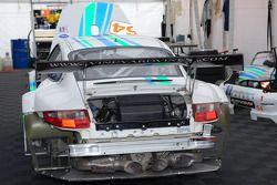 The #54 Team Trans Sport Racing Porsche 911 GT3 RSR