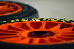 Dunlop tyre and wheel detail