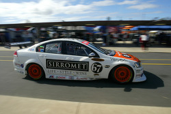 Paul Morris exits the pits