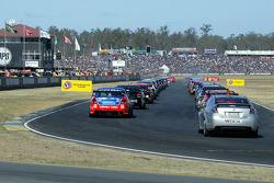 Grid of V8 Supercars