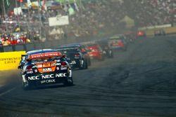 V8 Supercars thunder down the main straight