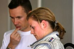 Susie Stoddart, Mücke Motorsport AMG Mercedes, Portrait and James Goodfield, Race Engineer of Susie Stoddart