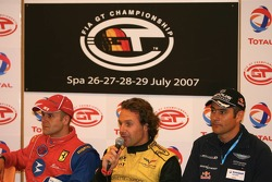 Press conference: GT2 pole winner Gianmaria Bruni, GT1 pole winner Mike Hezemans, and Karl Wendlinger