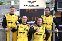 GT1 pole winner Mike Hezemans with Carsport Holland teammates Jean-Denis Deletraz, Fabrizio Gollin and Marcel Fassler