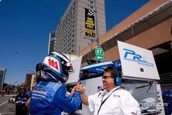 Jonathan Bomarito celebrates provisional pole position