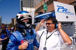 Jonathan Bomarito fête sa pole position provisoire