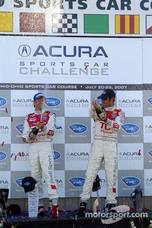 Podium LMP1: les vainqueurs Emanuele Pirro et Marco Werner